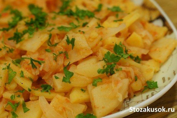 картошка соус в мультиварке рецепты